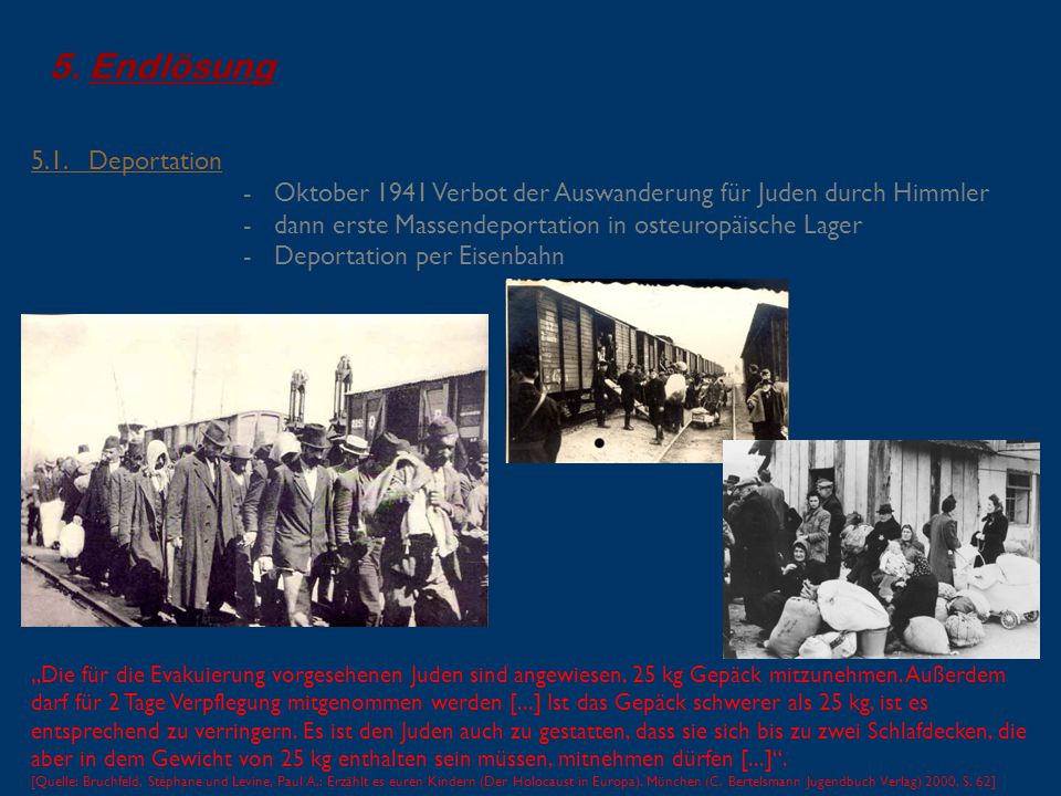 Endlösung 5.1. Deportation
