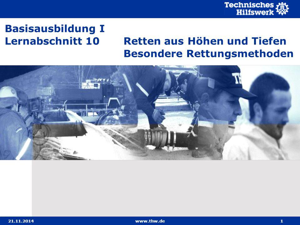 07.04.2017 Basisausbildung I. Lernabschnitt 10 Retten aus Höhen und Tiefen Besondere Rettungsmethoden.