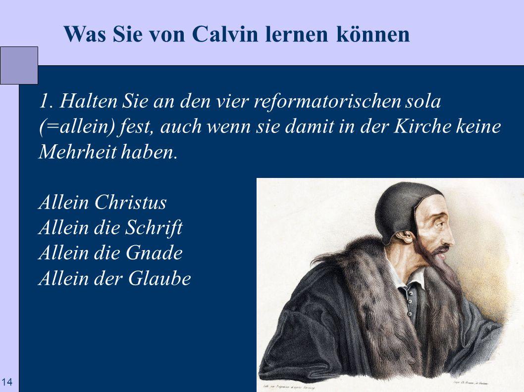 Was Sie von Calvin lernen können