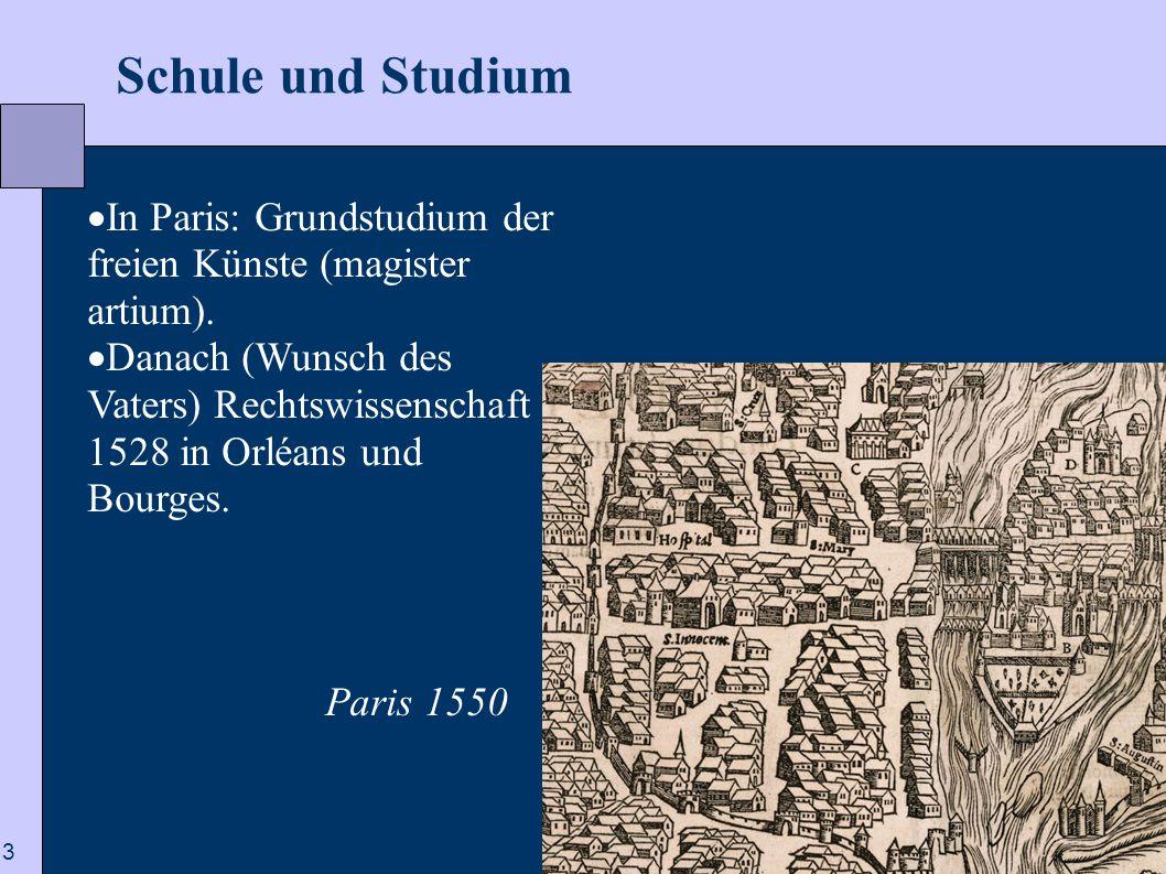 Schule und Studium In Paris: Grundstudium der freien Künste (magister artium).