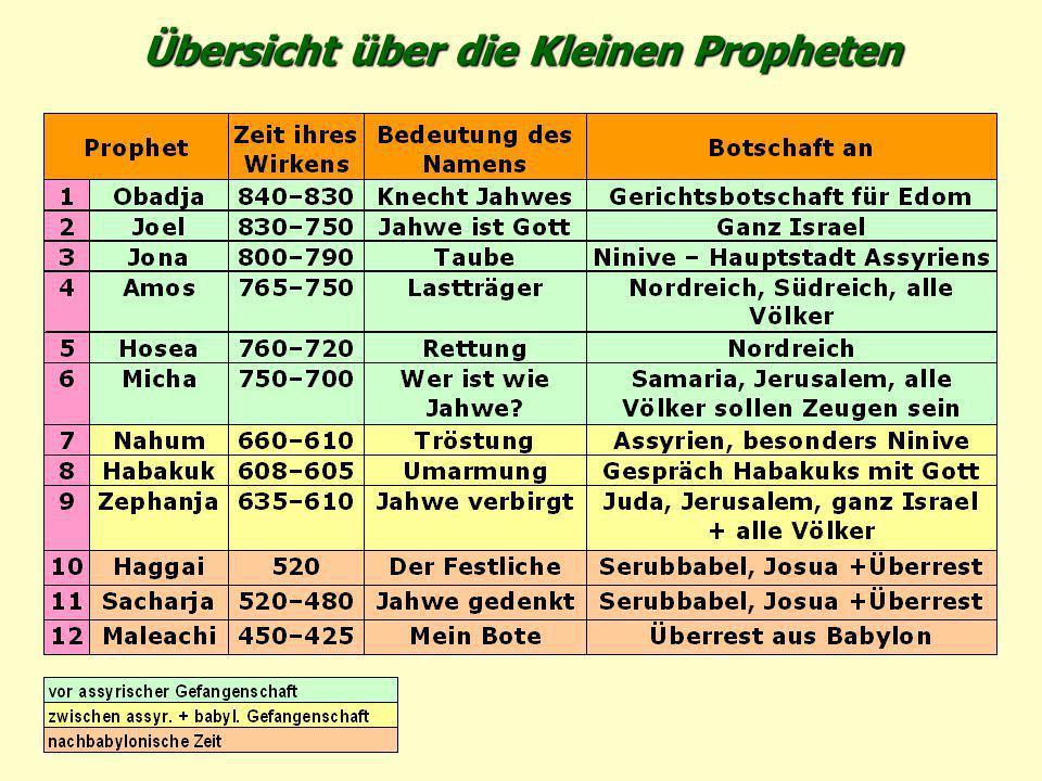 Übersicht über die Kleinen Propheten