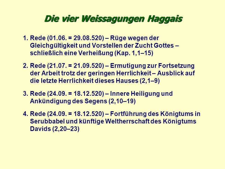 Die vier Weissagungen Haggais