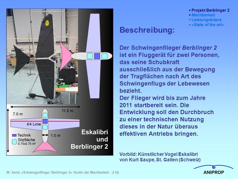 Projekt Berblinger 2 Machbarkeit. Leistungsbilanz. «State of the art» Beschreibung:
