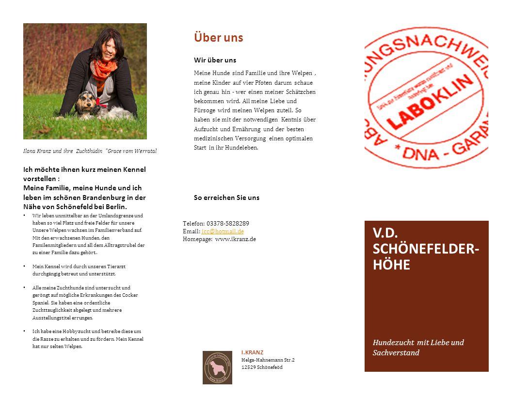 v.d. schönefelder-Höhe Über uns Hundezucht mit Liebe und Sachverstand