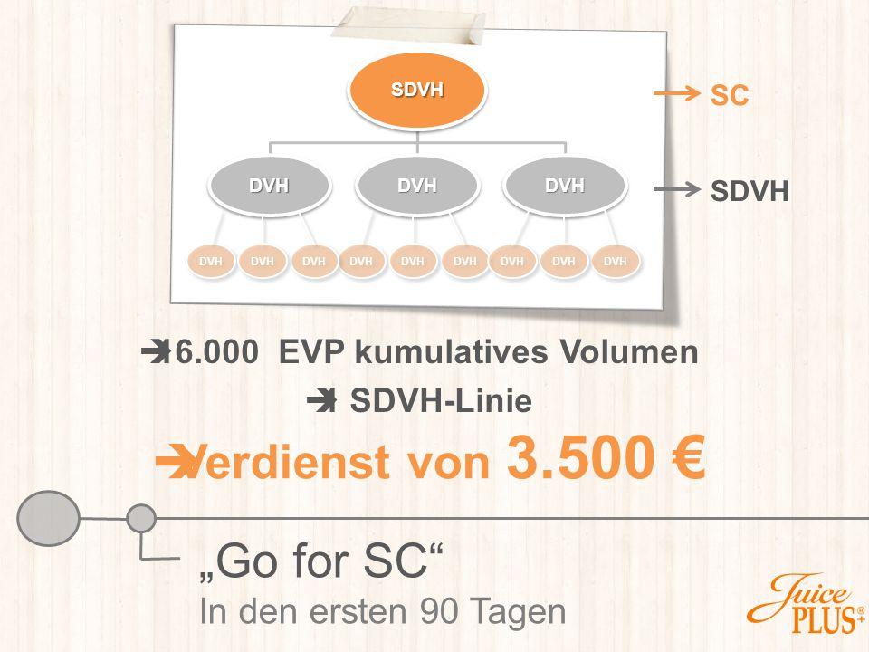 16.000 EVP kumulatives Volumen