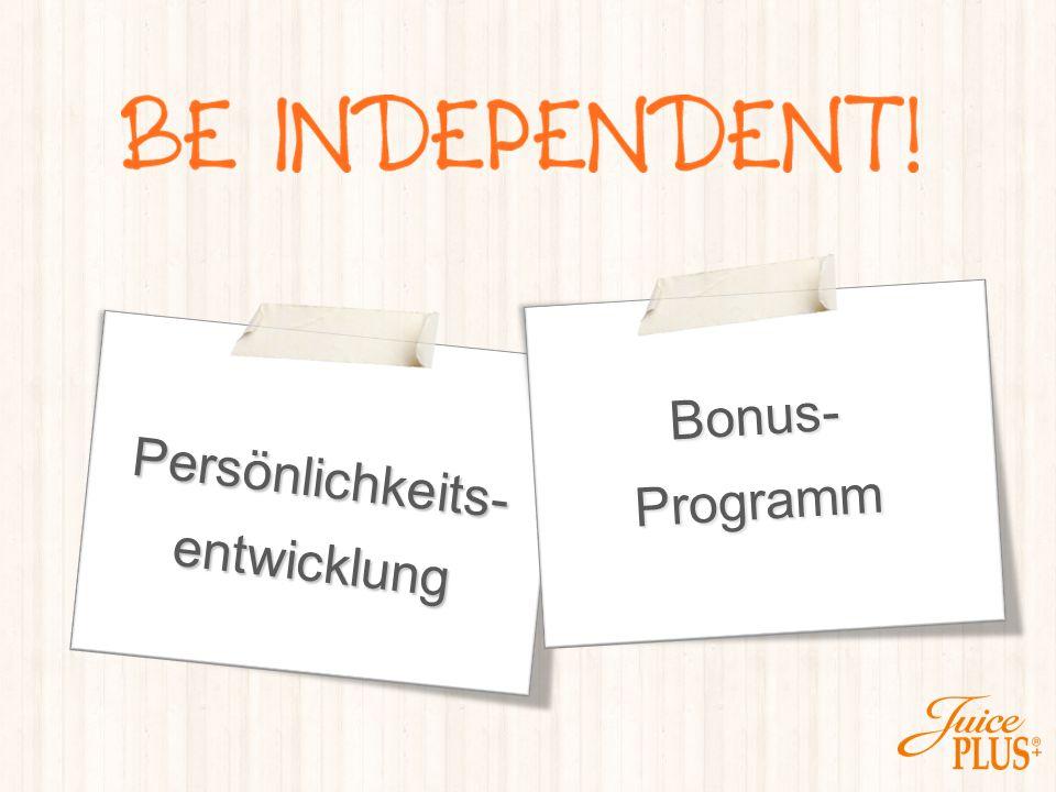 Bonus- Programm Persönlichkeits- entwicklung