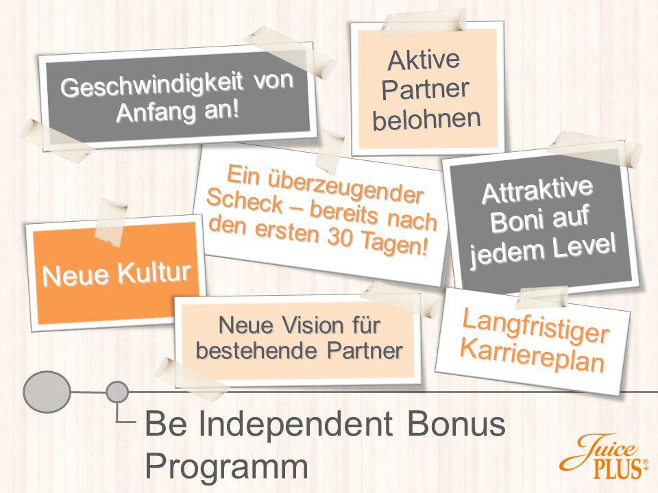 Be Independent Bonus Programm