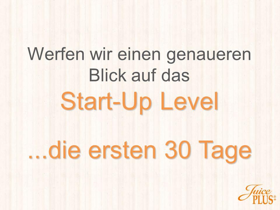 Werfen wir einen genaueren Blick auf das Start-Up Level