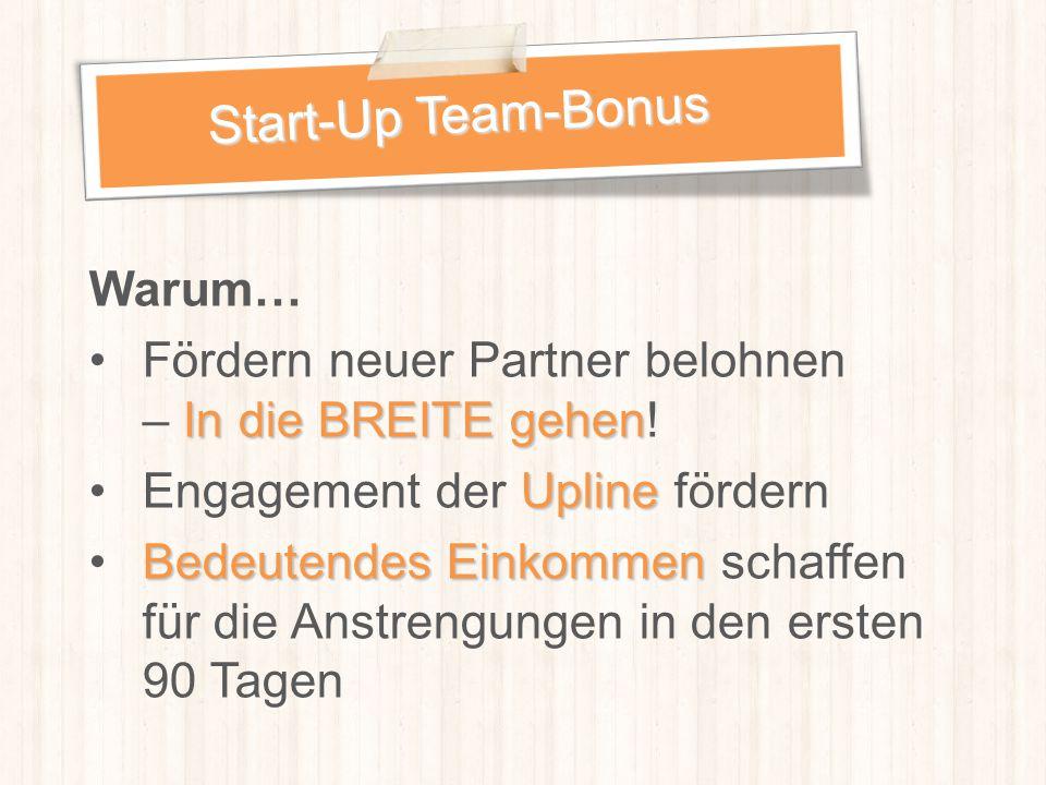 Start-Up Team-Bonus Warum…