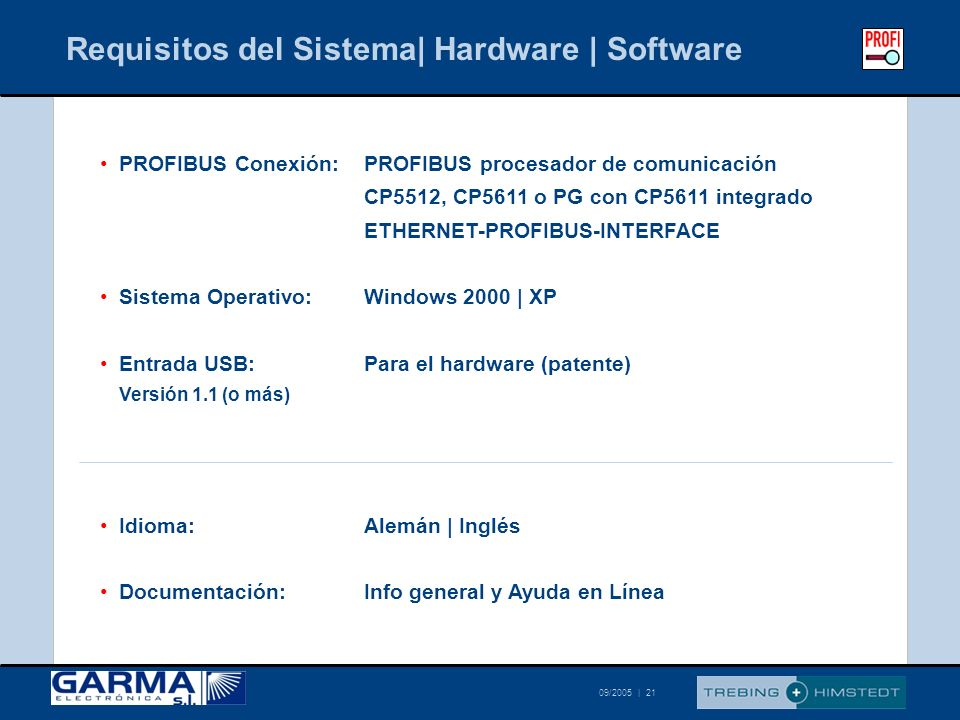 Requisitos del Sistema| Hardware | Software