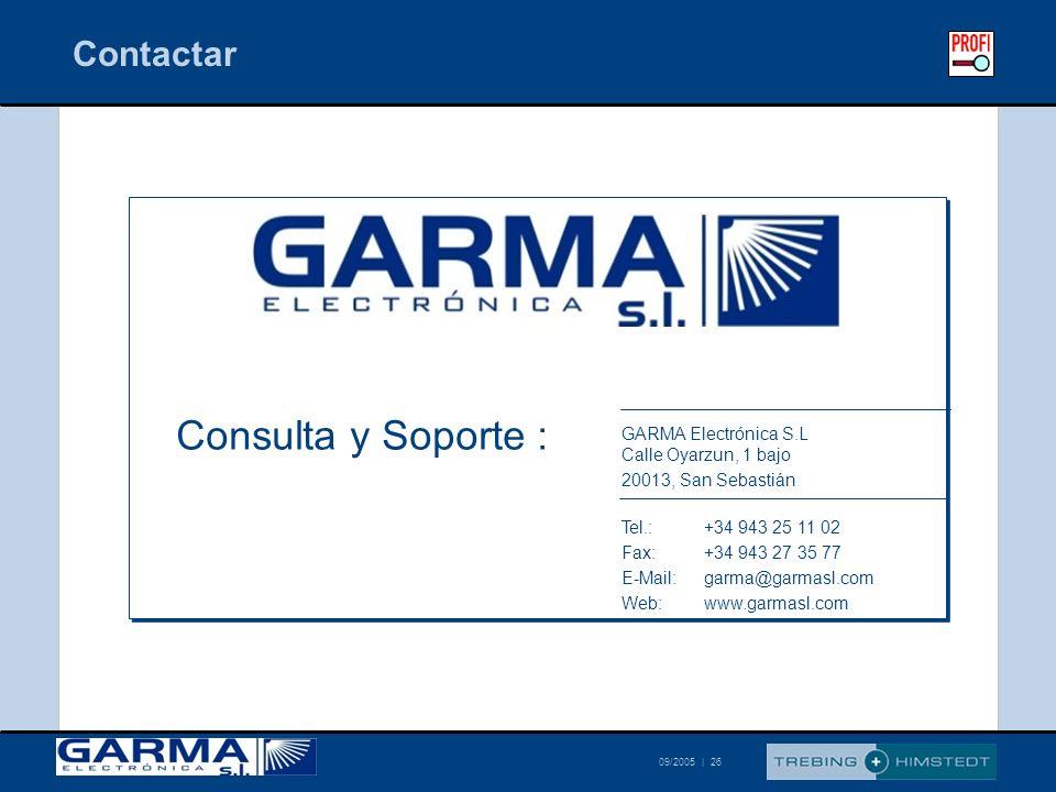 Consulta y Soporte : Contactar
