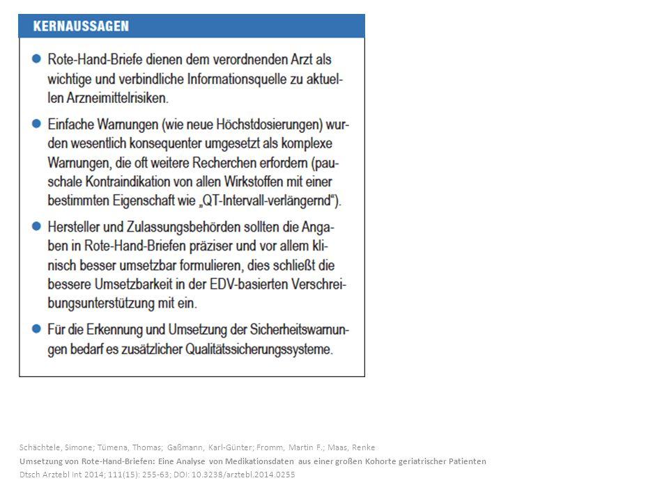 Schächtele, Simone; Tümena, Thomas; Gaßmann, Karl-Günter; Fromm, Martin F.; Maas, Renke