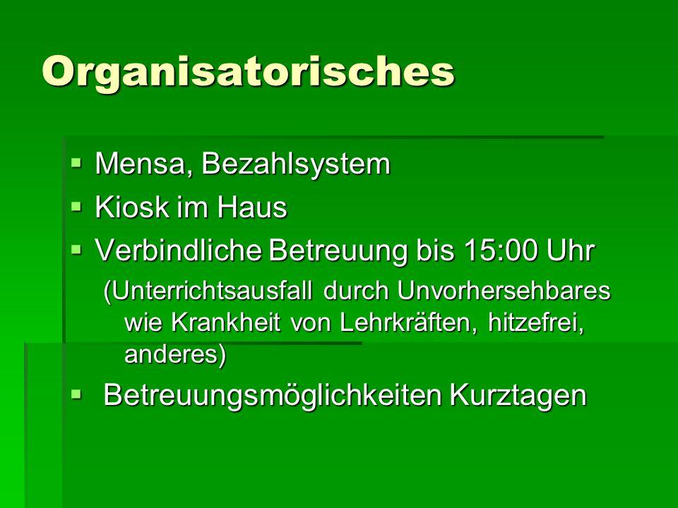 Organisatorisches Mensa, Bezahlsystem Kiosk im Haus