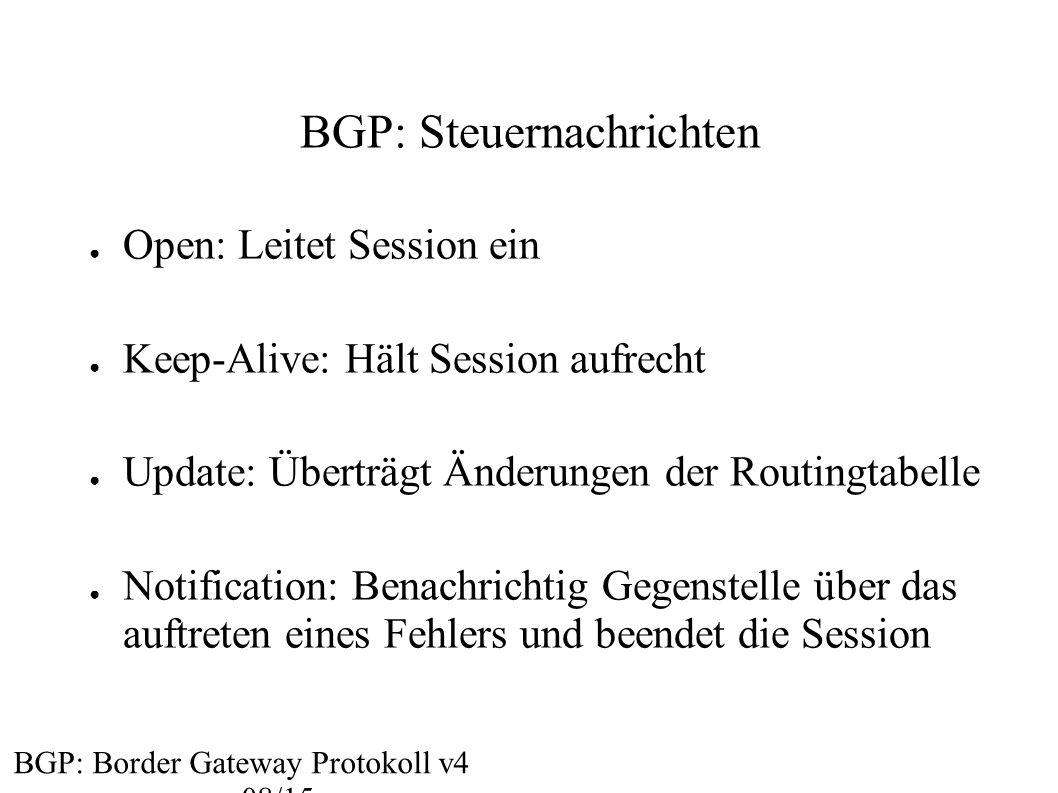 BGP: Steuernachrichten