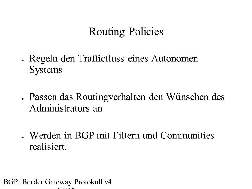 Routing Policies Regeln den Trafficfluss eines Autonomen Systems