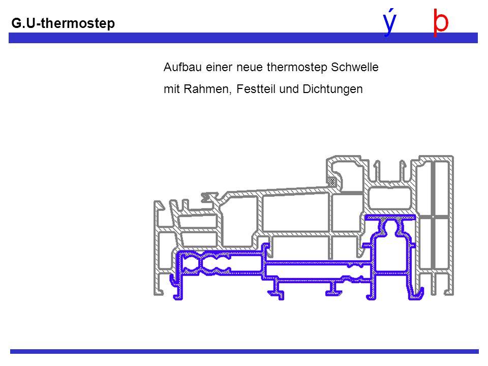 G.U-thermostep Aufbau einer neue thermostep Schwelle