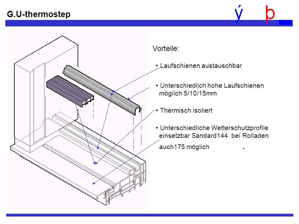 G.U-thermostep Vorteile: Laufschienen austauschbar