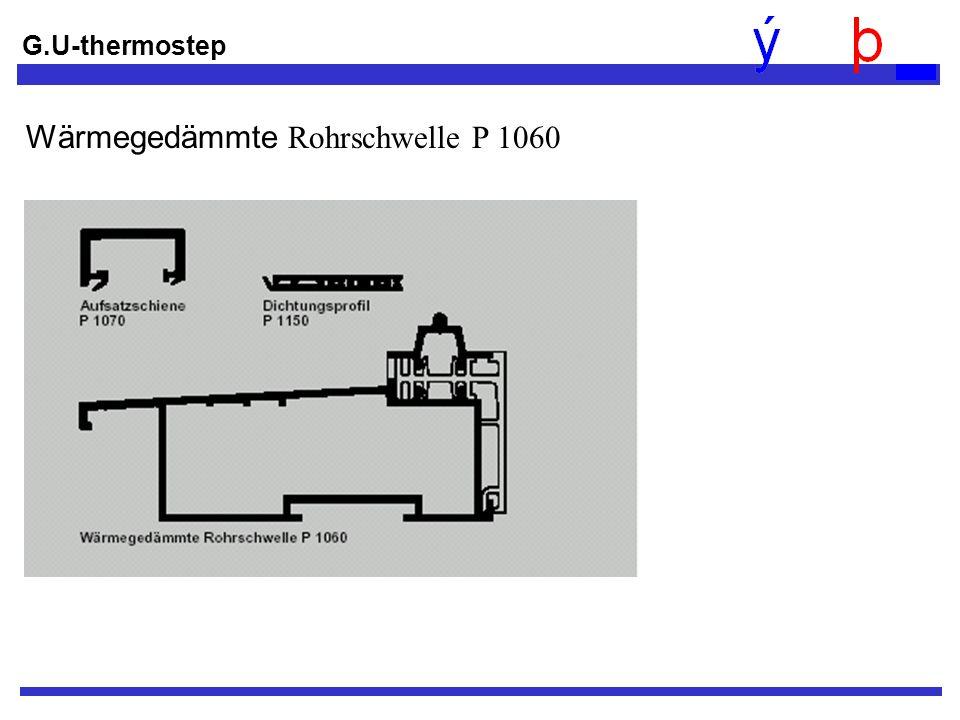 Wärmegedämmte Rohrschwelle P 1060