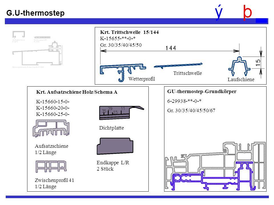 G.U-thermostep Krt. Trittschwelle 15/144 K-15655-**-0-* Gr. 30/35/40/45/50. Wetterprofil.