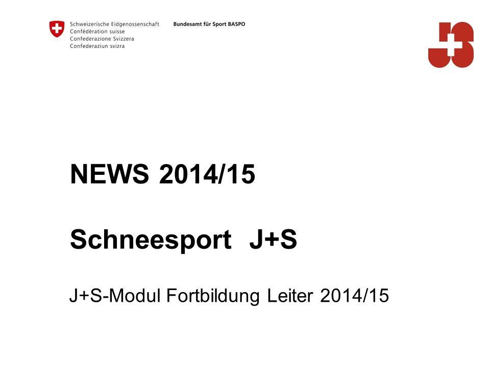J+S-Modul Fortbildung Leiter 2014/15