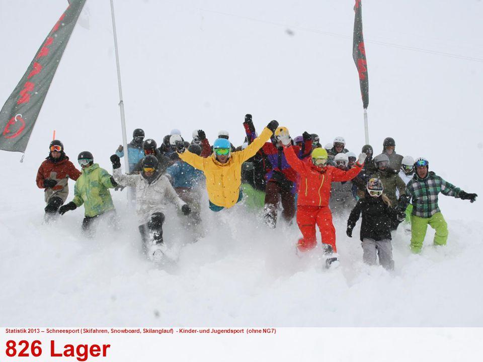 Statistik 2013 – Schneesport (Skifahren, Snowboard, Skilanglauf) - Kinder- und Jugendsport (ohne NG7)