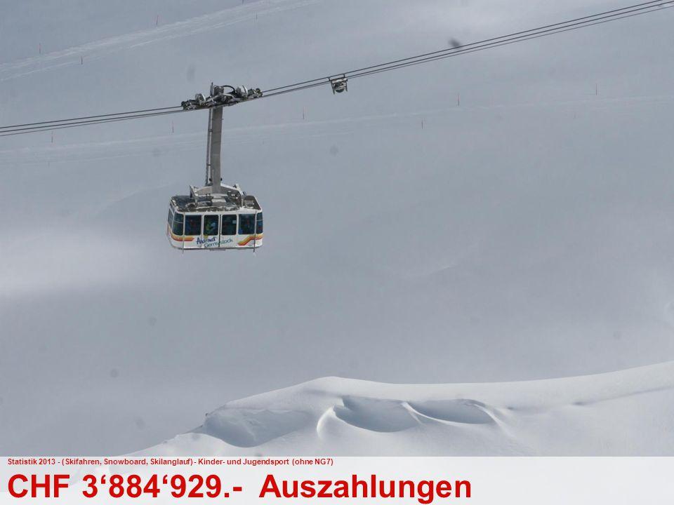 Statistik 2013 - (Skifahren, Snowboard, Skilanglauf) - Kinder- und Jugendsport (ohne NG7)