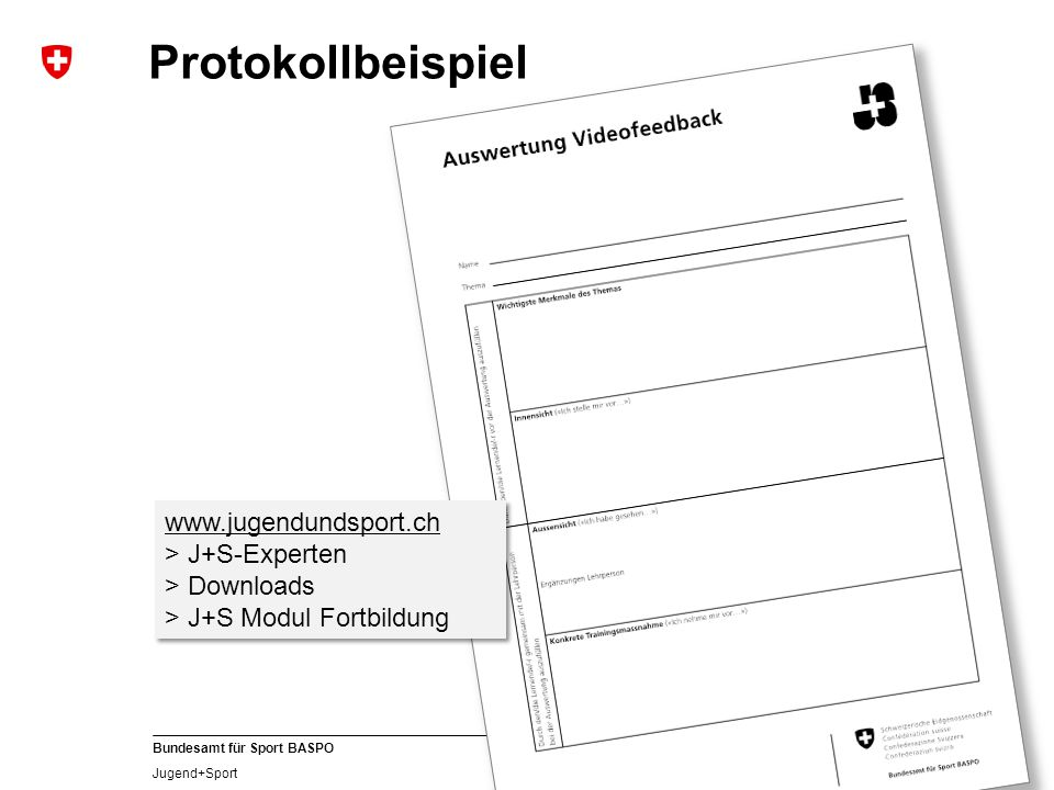 Protokollbeispiel www.jugendundsport.ch > J+S-Experten