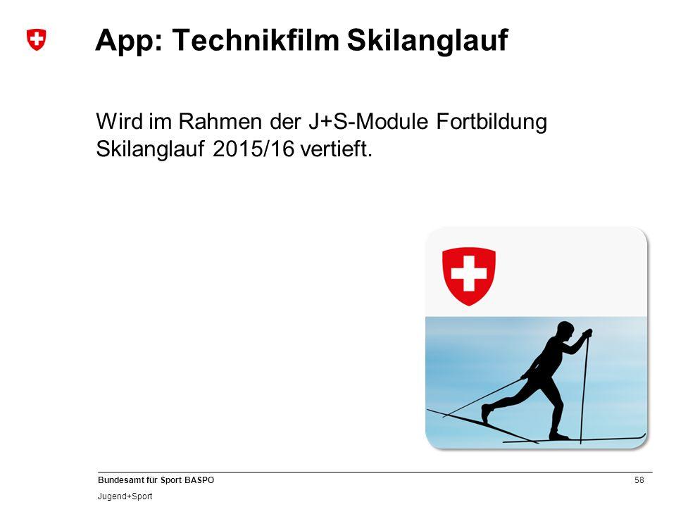 App: Technikfilm Skilanglauf