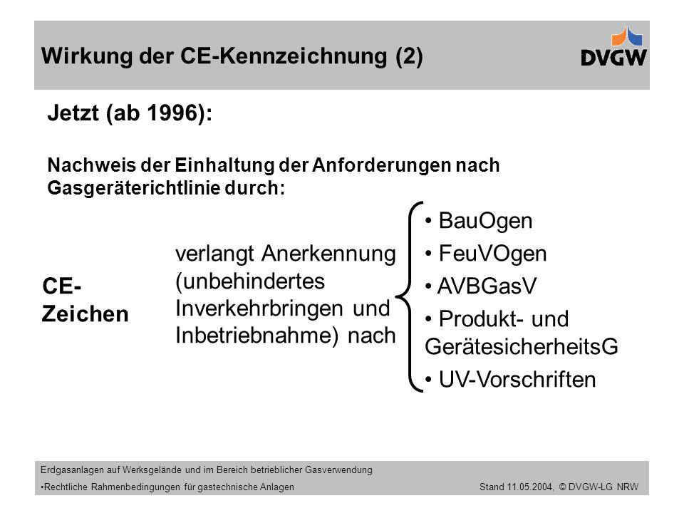 Wirkung der CE-Kennzeichnung (2)