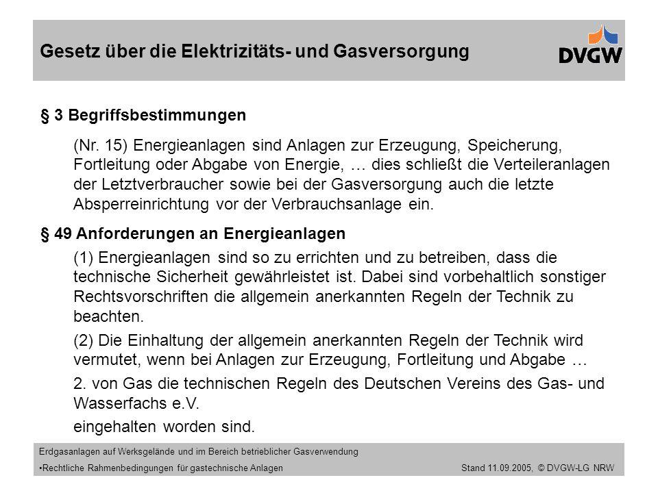 Gesetz über die Elektrizitäts- und Gasversorgung