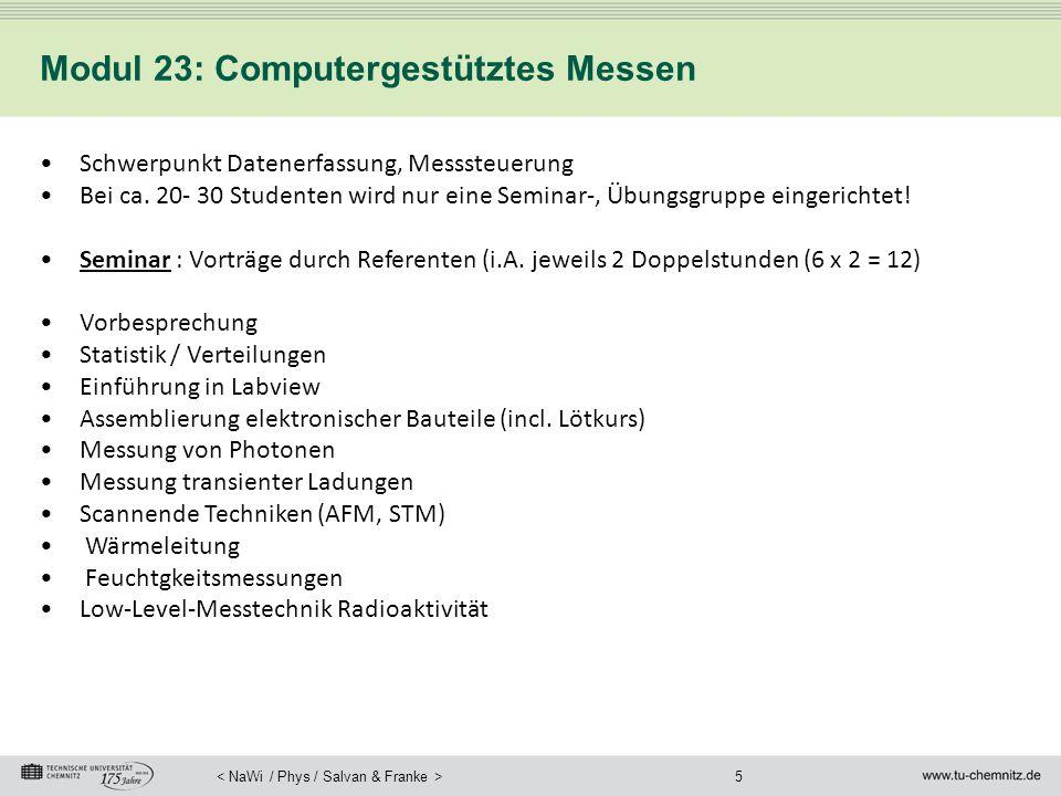 Modul 23: Computergestütztes Messen