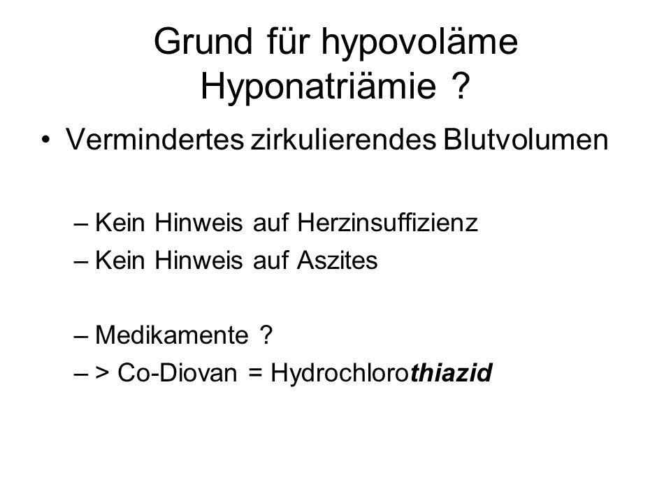 Grund für hypovoläme Hyponatriämie