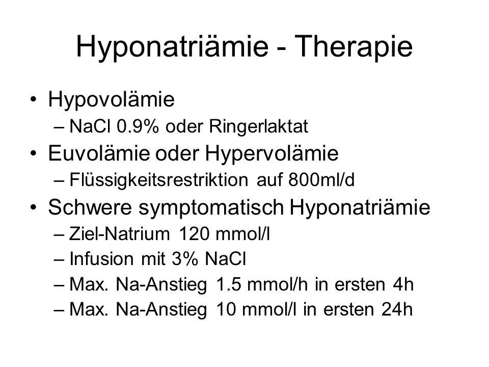 Hyponatriämie - Therapie