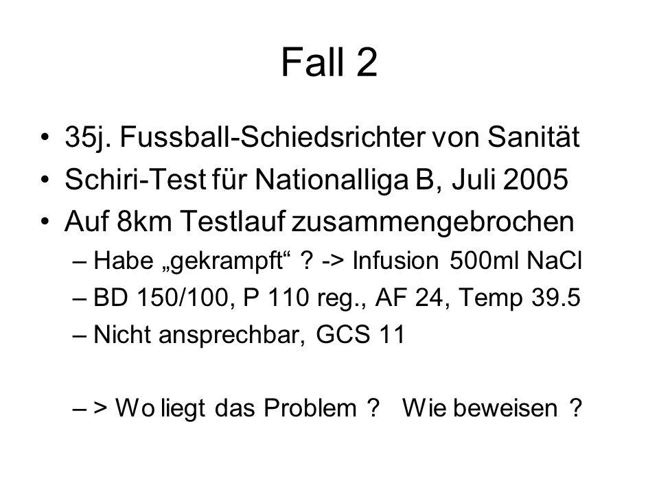Fall 2 35j. Fussball-Schiedsrichter von Sanität