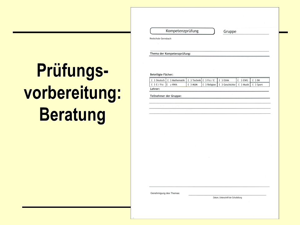 Prüfungs-vorbereitung: Beratung