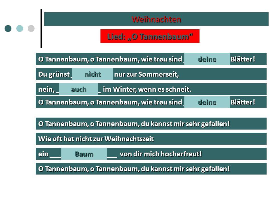 """Weihnachten Lied: """"O Tannenbaum"""