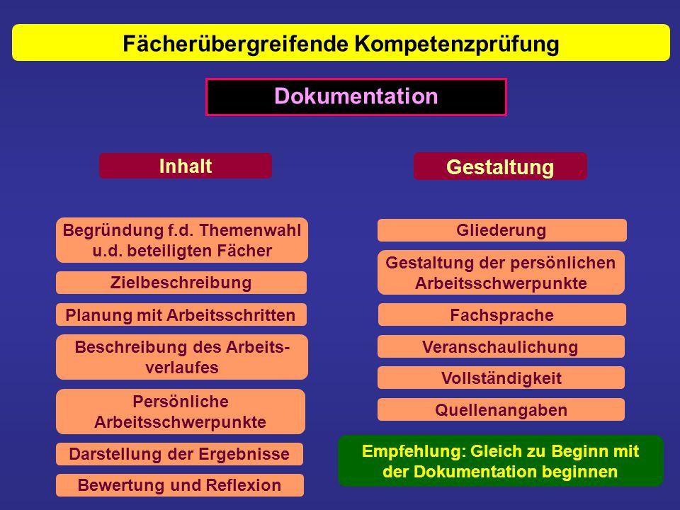 Fächerübergreifende Kompetenzprüfung Dokumentation