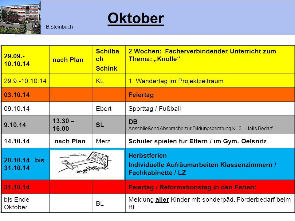 Oktober 29.09.- 10.10.14 nach Plan Schilbach Schink