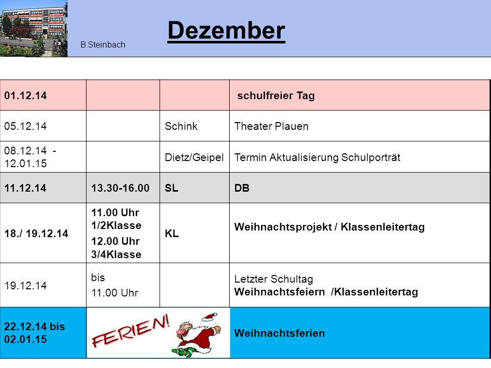 Dezember 01.12.14 schulfreier Tag 05.12.14 Schink Theater Plauen