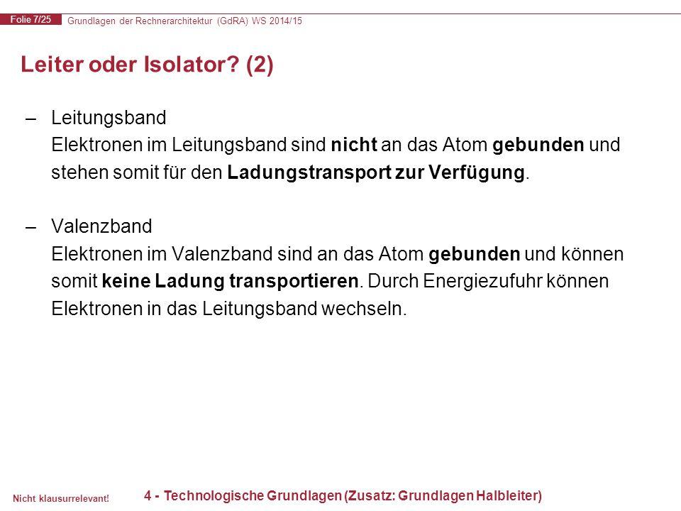 Leiter oder Isolator (2)