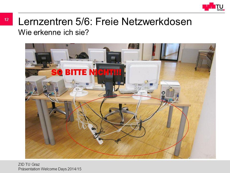 Lernzentren 5/6: Freie Netzwerkdosen Wie erkenne ich sie
