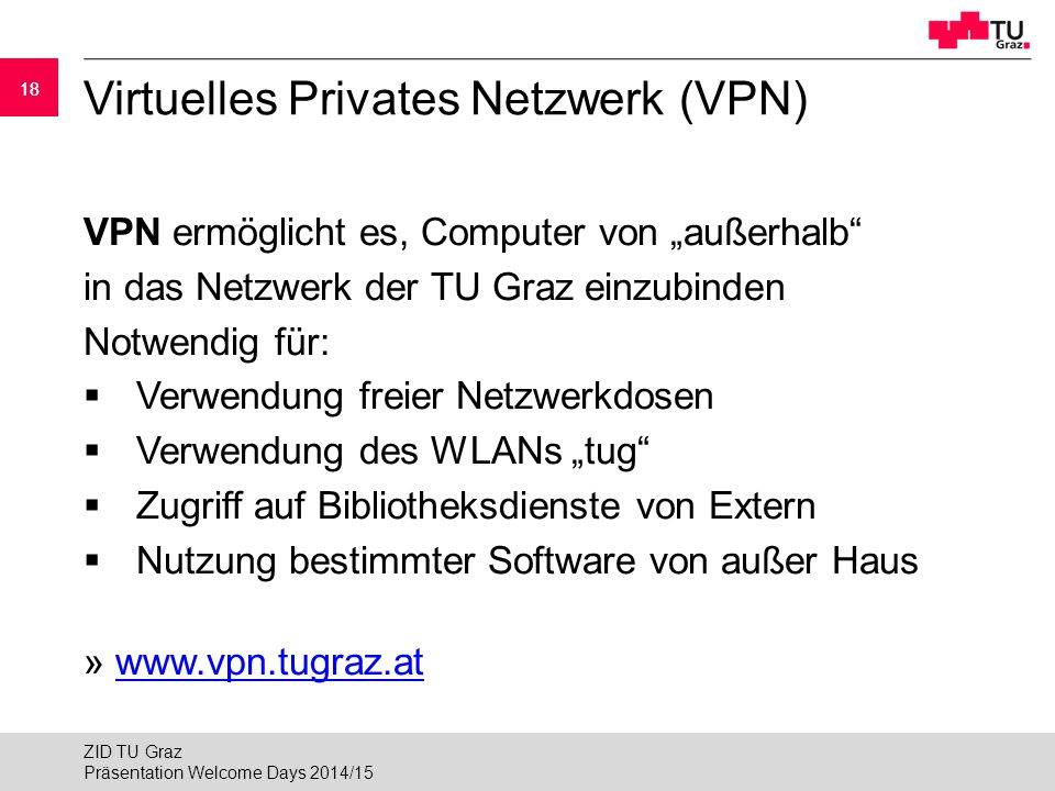 Virtuelles Privates Netzwerk (VPN)
