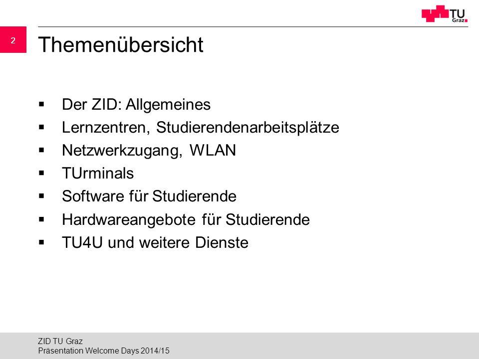 Themenübersicht Der ZID: Allgemeines