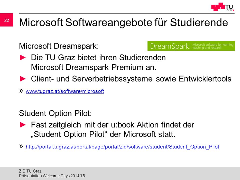 Microsoft Softwareangebote für Studierende