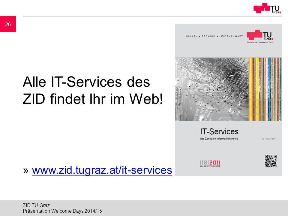 Alle IT-Services des ZID findet Ihr im Web!