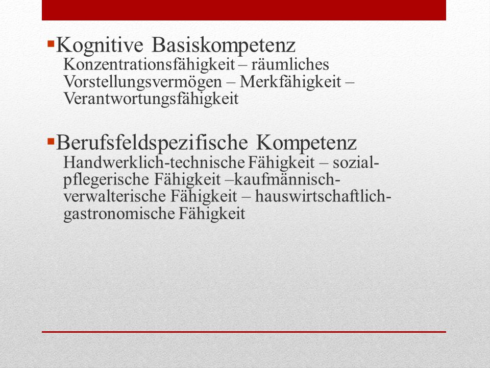 Kognitive Basiskompetenz