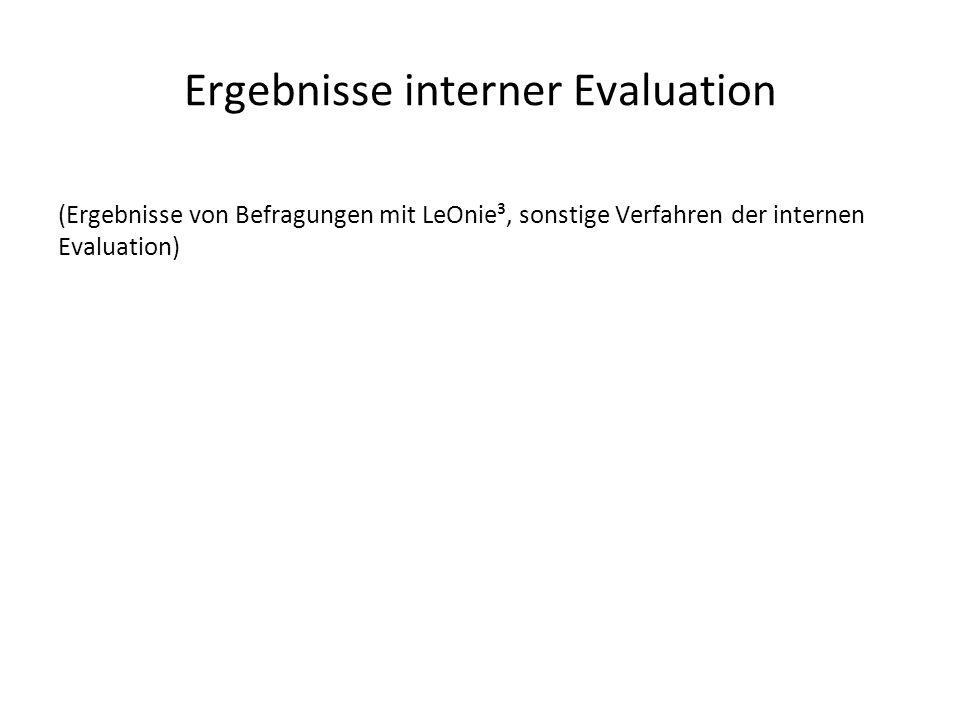 Ergebnisse interner Evaluation
