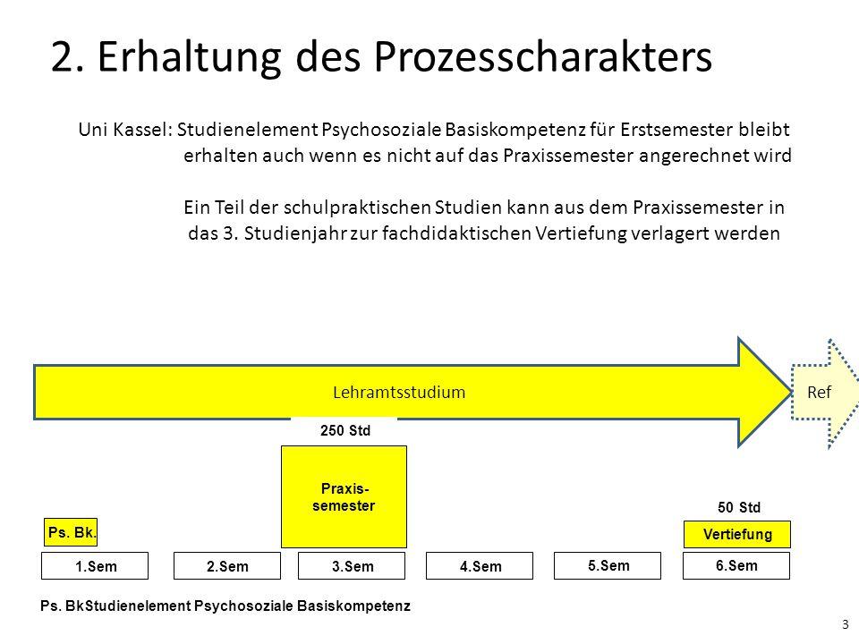 2. Erhaltung des Prozesscharakters