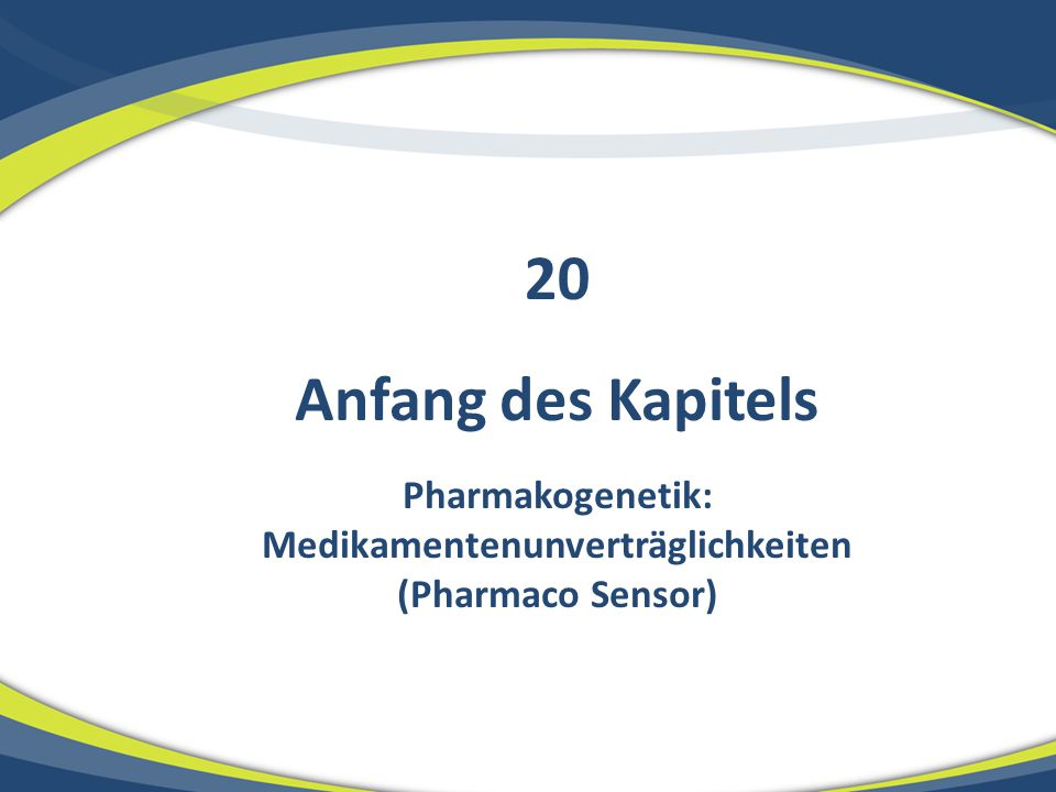 Pharmakogenetik: Medikamentenunverträglichkeiten (Pharmaco Sensor)