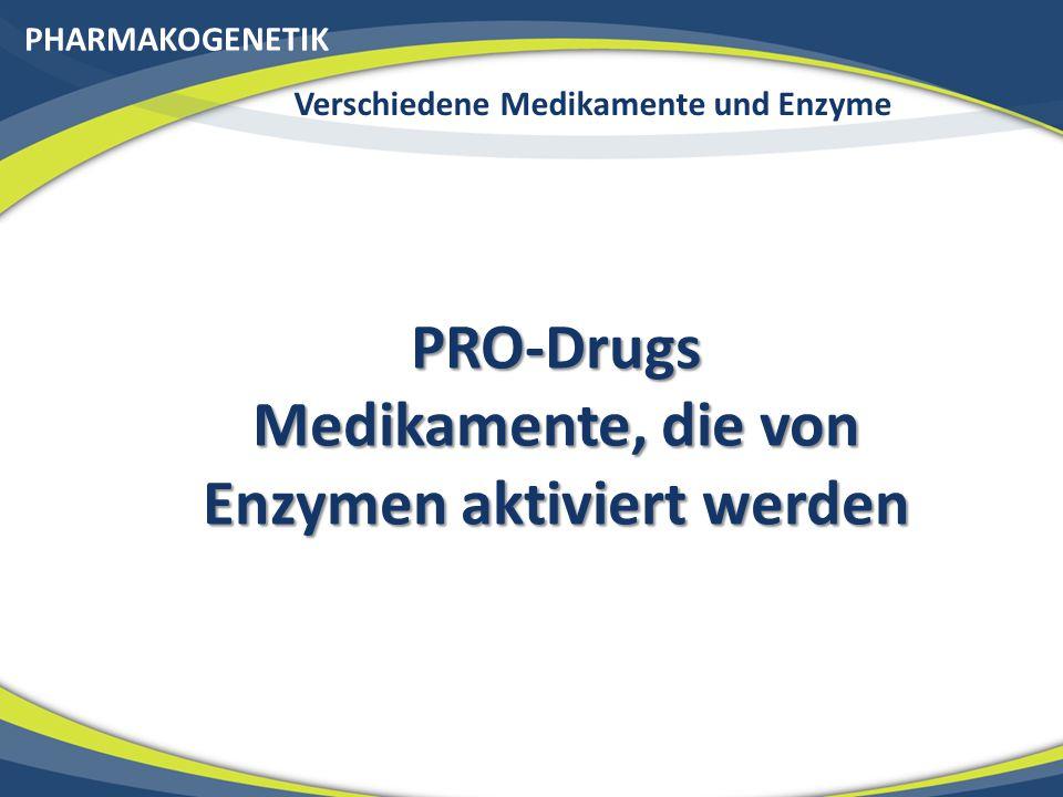 PRO-Drugs Medikamente, die von Enzymen aktiviert werden